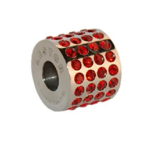 Picture of BEAD ACERO 316 L, SWAROWSKY ROJO