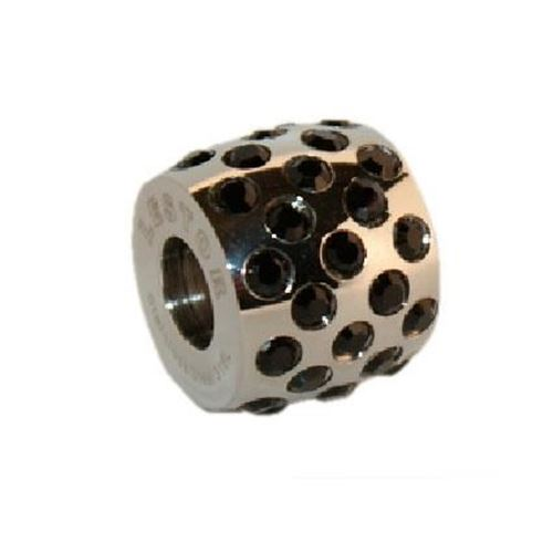 Picture of BEAD ACERO 316 L, SWAROWSKY NEGRO